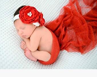 Baby Headbands - Flower Headband - Infant Headbands - Baby Girl Headbands - Baby Hair Accessories - Baby Bows - Yellow Bows - Head band