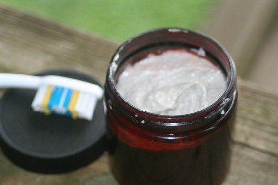 All Natural Remineralizing Toothpaste Lemon Peppermint essential oil 4ozs made with Organic ingredients