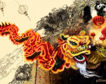 Chinese New Year 9.5x17 Print