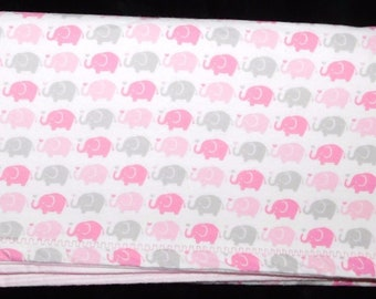 "31"" by 32"" Homemade Snuggle Flannel Reversible Baby Blanket"