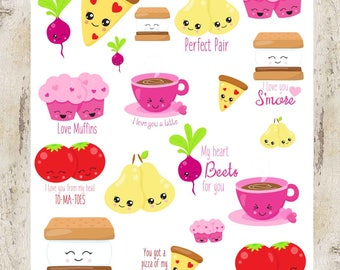 Love Food Pairs stickers