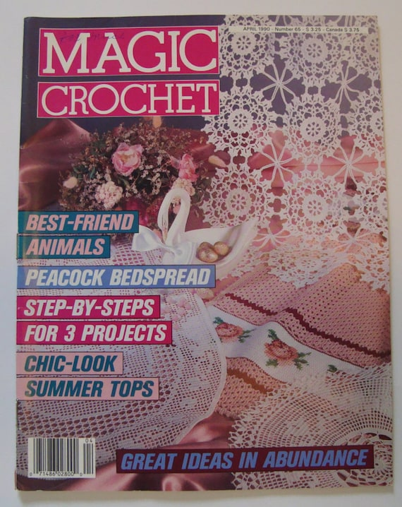 Magic crochet patterns magic crochet magazine april 1990 no65row magic crochet patterns magic crochet magazine april 1990 no65row by row diagram summer tops bedspread doilies cushion front curtains from ccuart Gallery