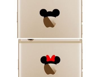 Mickey OR Minnie Hat iPhone Apple Decal