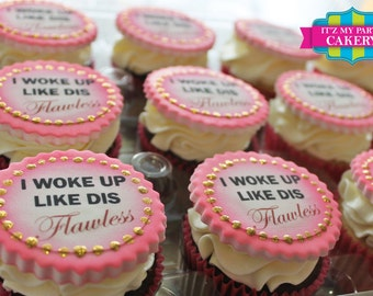 Flawless Cupcake Toppers - 1 Dozen
