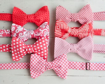 Bow Tie, Mens Bow Tie, Bowtie, Bowties, Bow Ties, Bowties, Floral Bow Tie, Groomsmen Bow Ties, Wedding Bow Ties - Coral Bow Tie Collection
