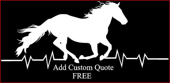 Custom order wild horse car decal car window custom car decal