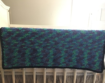 Baby Blanket - Black / Blue / Green / Teal / Purple