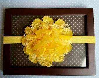 Yellow Newborn flower headband