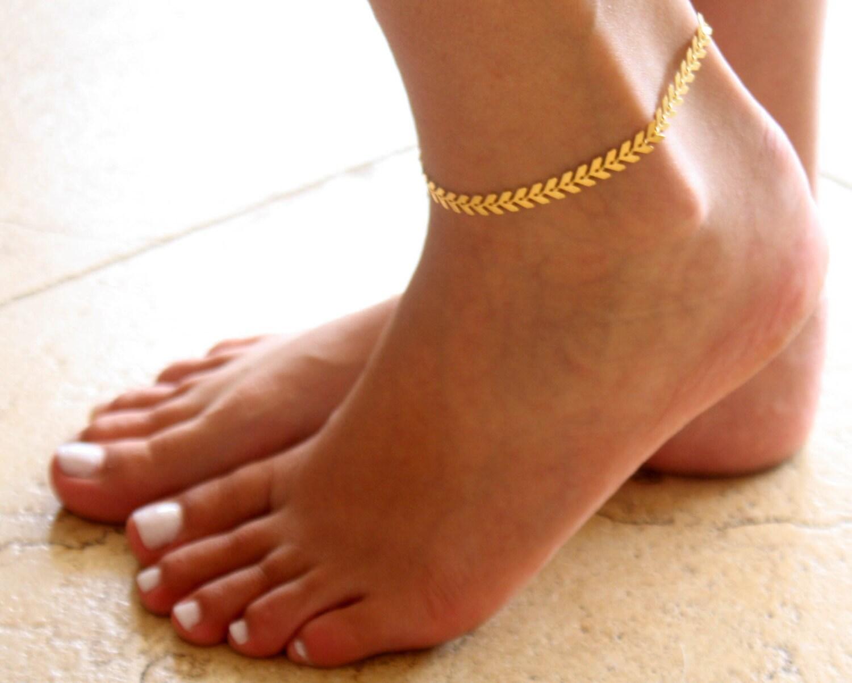 Gold Anklet Gold Ankle Bracelet Arrow Anklet Foot