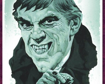 Barnabas Collins in 'House of Dark Shadows' - 42cm x 30cm signed art print