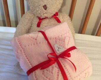 baby blanket pale pink