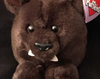 """Vintage Puffkins """"Ding the Bat"""" Stuffed Animal 1994 Limited Edition Puffkin"""