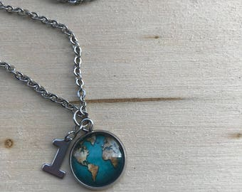 "18"" Stainless Steel One Earth Necklace"