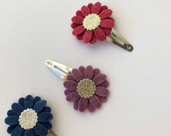 Snap clips, flower clips, hair clips, toddler clips