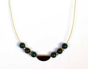 Necklace with Moss Agate