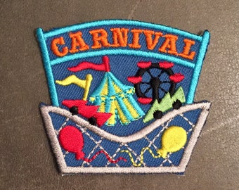Carnival Merit Badge Rollercoaster Balloons Circus Tent Flags Ferris Wheel Scout Patch