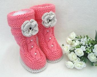 Baby Girl Booties Baby Shoes Crochet Baby Shoes Knitted Baby Booties Infant Girl Shoes Crochet Baby Booties Newborn Gift Baby Girl Clothes