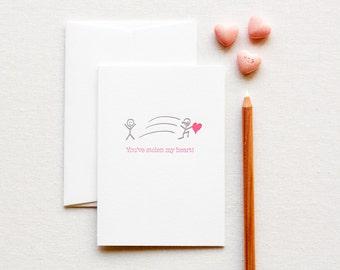 Letterpress Love Note Stolen Heart