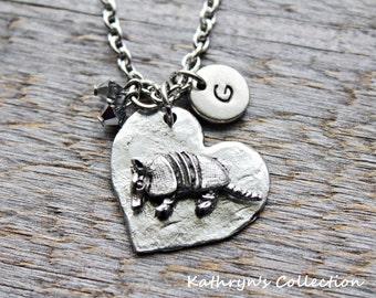 Armadillo Necklace, Armadillo Jewelry, Armadillo Gift, Pet Armadillo