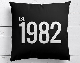 Personalised Memorable Year Cushion, Personalised Cushion, Personalised Pillow, Cushion
