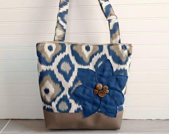 Crossbody Purse for Women, Tan Crossbody Bag for Travel, Large Cross Body Bag, Vegan Purse, Navy Bag, Navy Blue Handbag, Canvas Shoulder Bag