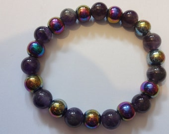 Magnetic Therapy Bracelet With Amethyst for Chronic Pain and Arthrytis Relief