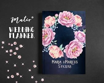 Wedding binder,Wedding book,Pink navy wedding planner,Printable wedding organizer,Printable wedding planner,Wedding planning book,Custom