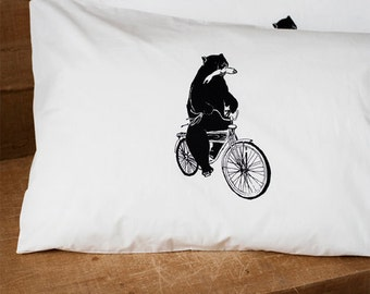 Commandeered By Wilderness - Hand Printed Pillow Case Pair - 180tc - by Bark Decor