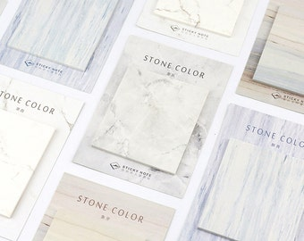 Sticky Notes Stone Color [1pc] | Sticky notes | marble | stone