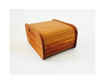 Mid Century Teak Wood File Box