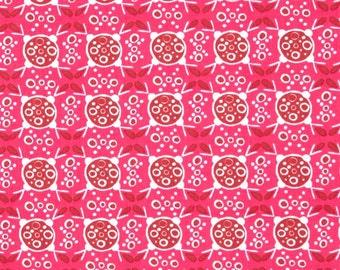 Ashton Road raspberry fabric - pink fabric - modern fabric - Robert Kaufman fabric - fabric sale - pink fabric by the yard - #16453