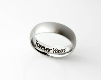 Personalized Fathers Day Gift Personalized Ring For Men Graduation Gift Mens Ring Mens Promise Ring For Him Mens  - RR3