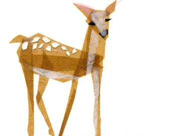Edie Fawn - Animal Art Print