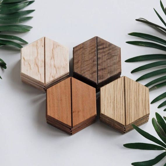 Hardwood Coasters Set of 4