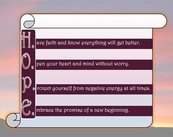 Hope Poster - Printable Inspirational Art Download