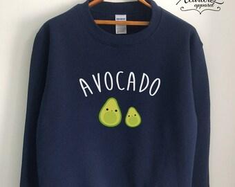 Vegan Sweater Vegan Sweatshirt Vegetarian Sweater Jumper Avocado Shirt Avocado Sweater Avocado Sweatshirt Unisex Black/Grey/Navy/White