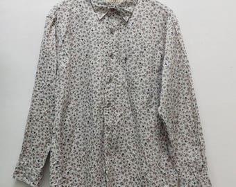 Vinatge KANSAI JEANS Button Down Design Hawaiian Shirt LARGE