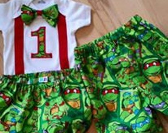 Ninja Turtle Birthday Outfit