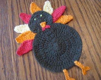 Large Crochet Turkey Applique