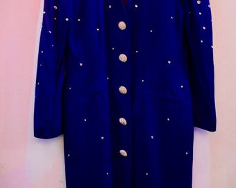 Vintage Purple Women's 80s Sparkling Jacket