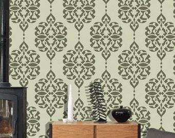 Reusable damask stencil pattern, wall stencil design ideas,DS-13