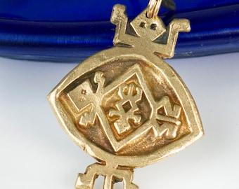Southwest Turtle Bronze Pendant - Necklace - Tortuga Tribal Keyring - Tribal Southwest Indian Pendant - Shaman Turtle Pendant -Shaman Turtle