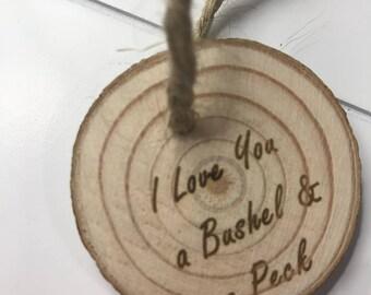 I Love You a Bushel and a Peck Ornament