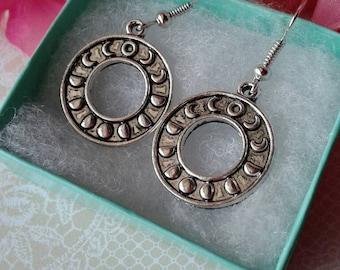 Moon Phase Earrings