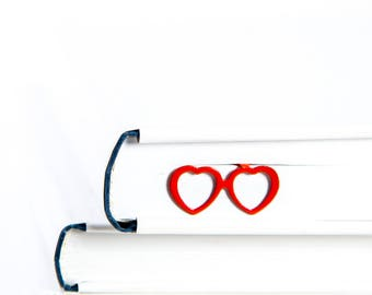 Lolita's glasses // Book Bookmark // Heart shaped glasses // Fun sunglasses // Gift for friend //
