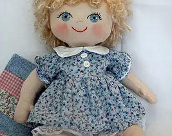 "RC602E – ""Maggie Mae"" 18"" Baby Doll Sewing Pattern – PDF Download Doll Making Pattern"