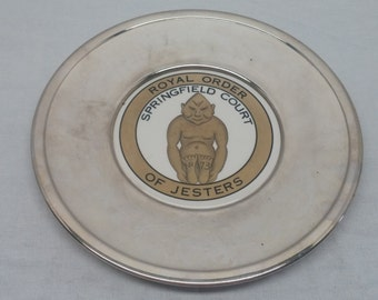 Royal Order of Jesters Springfield Court No. 73 Silverplate Platter - Free Masons, Shriners, Fraternal, Secret Order