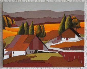 "Painting ""Autumn landscape"" acrylic"