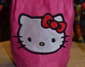 Dice Bag Hello Kitty embroidered Suede