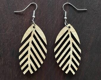 FROND - leaf shaped earrings